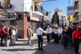 Procesión del Santo Encuentro en Santa Eulària (Fotos: Marcelo Sastre)