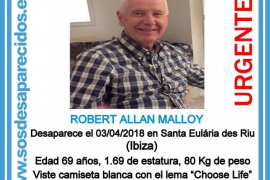 Santa Eulària llama a una movilización ciudadana a las 16.30 horas para localizar al vecino desaparecido