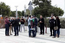 Segunda jornada de movilizaciones de policías locales de Ibiza .