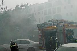 Tensión por un incendio en Santa Eulària