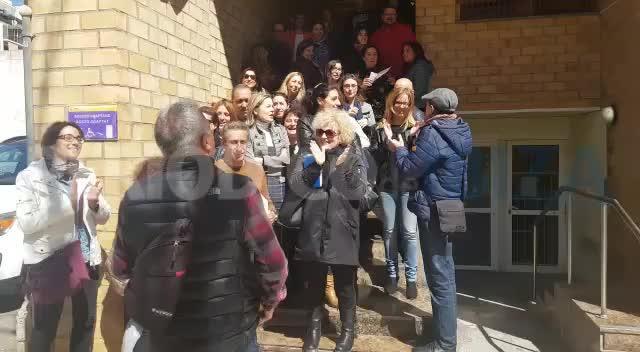 Medio centenar de trabajadores de los juzgados de Ibiza protestan por sus condiciones laborales
