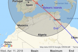 La Estación Espacial Internacional podrá observarse hoy a simple vista desde Ibiza y Formentera