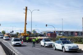 Colapso por un accidente en la carretera de Sant Antoni