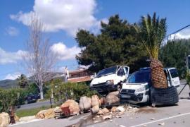 Positivo en drogas tras chocar contra un vehículo de la Guardia Civil