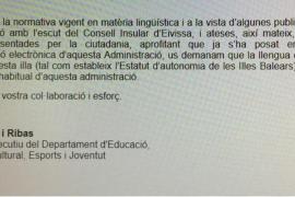 David Ribas pide a los trabajadores del Consell d'Eivissa que el catalán sea la lengua «de uso habitual» en esa administración