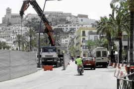 Las obras junto al puerto de Vila pararán el 30 de mayo y se recuperará el carril de circulación cortado