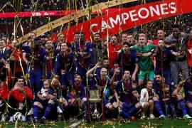 El Barcelona arrolla al Sevilla (0-5) y conquista su trigésima Copa
