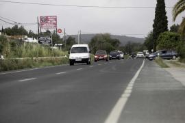 Muere un motorista de 28 años en la carretera de Santa Eulària
