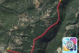 La carretera de Cala Vedella permanecerá restringida al tráfico hasta este viernes