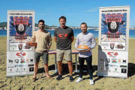 Más de 500 personas se citan con el rugby playa en Sant Antoni