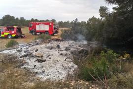 Los bomberos sofocan un pequeño incendio en Cap de Barbaria