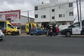 Un accidente colapsa la carretera de Santa Eulària