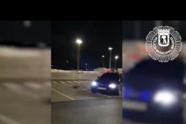 Detenido un conductor que presumía en las redes de maniobras temerarias en el parking del Wanda