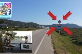 Policía Local de Sant Josep denuncia a 76 conductores por exceso de velocidad