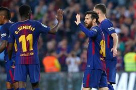Dembélé brilla en la 'manita' al Villarreal y el Barça sigue invicto