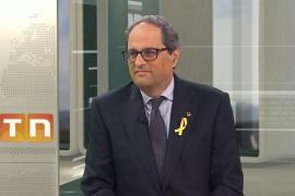 Quim Torra: «Yo solo contemplo la posibilidad de obedecer lo que decida el Parlament