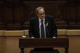 Torra promete retomar el camino a la independencia y elaborar una constitución catalana