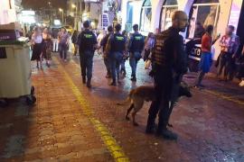 Dos detenidos y quince denunciados durante el fin de semana en Sant Antoni