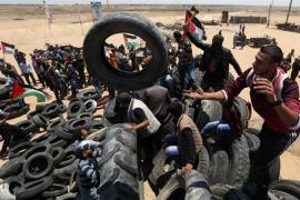 Un palestino muerto y decenas heridos por los enfrentamientos con las fuerzas israelíes durante la 'Nakba'