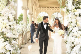 El futbolista Cesc Fàbregas se casa con la libanesa Daniella Semaan