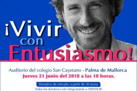 Victor Küppers ofrece en Palma la conferencia solidaria ¡Vivir con entusiasmo!