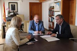 Santa Eulària y Costas trabajan para garantizar la seguridad del litoral hasta es Canar