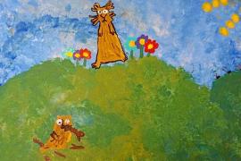 Can Misses se llena de color gracias al arte infantil