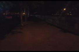 Calle a oscuras