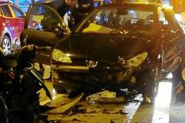Una joven cuadruplica la tasa de alcohol y da positivo en cocaína tras causar un grave accidente en Ibiza