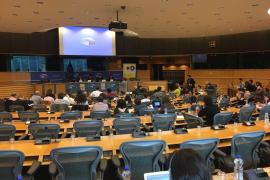 «Ni rastro» de Valtonyc en el acto en el Parlamento Europeo sobre los ataques a la libertad de expresión
