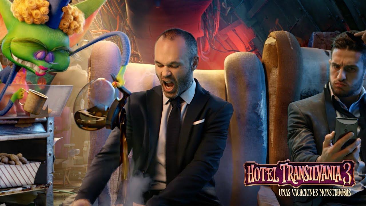 Iniesta, Marco Asensio y Koke se cuelan en Hotel Transilvania 3