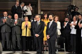 """Los consellers toman posesión prometiendo """"lealtad"""" a Quim Torra"""