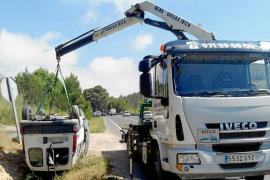 Tres heridos en sendos aparatosos accidentes en Sant Josep y Sant Antoni
