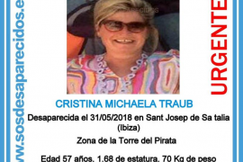 Cuatro jornadas sin rastro de la mujer alemana desaparecida en Cala d'Hort