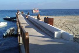 Vila finaliza la reparación del pantalán de Es Viver con una inversión de 26.000 euros