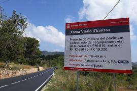 Finalizan las obras de mejora y adecuación de la carretera de Sant Carles a sa Cala de Sant Vicent