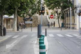 Tener tarjeta para circular por Dalt Vila no significa que esté permitido estacionar