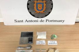 Encuentran una bolsa de drogas en Sant Antoni por valor de 10.000 euros