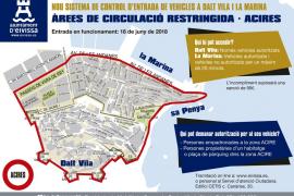 A punto el nuevo sistema de control de acceso a la Marina y Dalt Vila
