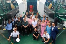 La embarcación oceánica 'Río Miño' de la Guardia Civil ya opera en aguas de las Pitiusas