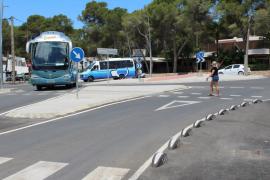 Santa Eulària acaba la construcción de la rotonda de s'Argamassa