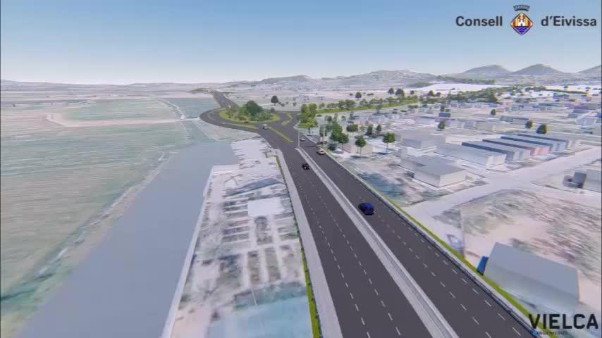 Las obras de la carretera de Santa Eulària se desarrollarán sin cortes de tráfico