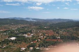 Un herido leve y doce evacuados en un incendio en Santa Eulària