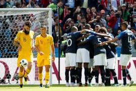 Francia sufre para superar a Australia