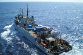 La Armada rescata el cadáver del piloto sumergido a 60 metros de profundidad en Mallorca
