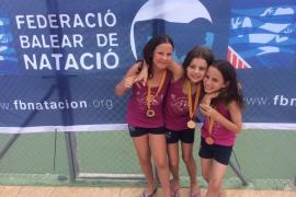 Nadadoras del CD Sincro Ibiza.