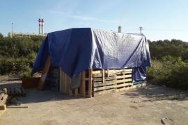 Desmantelado un asentamiento ilegal en el barrio de es Pratet