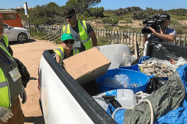 Recogen más de 2.815 kilos de residuos en espacios de relevancia ambiental de Formentera