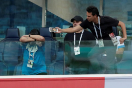 El show de Maradona en el Nigeria-Argentina