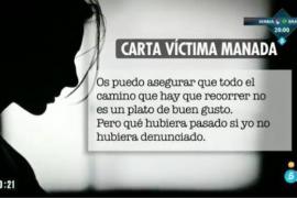 La víctima de La Manada rompe su silencio: «No os quedéis callados, si no, ganan ellos»